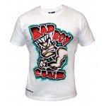 Бяла тениска с картинка и червен надпис Bad BoyБяла тениска с картинка и червен надпис Bad Boy2