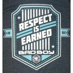 """Синя тениска с надпис """"Respect Is Earned"""" Bad BoyСиня тениска с надпис """"Respect Is Earned"""" Bad Boy3"""