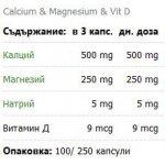 Nature's Way Calcium, Mag & Vit D 250 мг 100 капсули414202