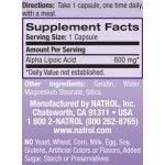 Natrol Alpha Lipoic Acid 600 мг 45 таблеткиNAT3482