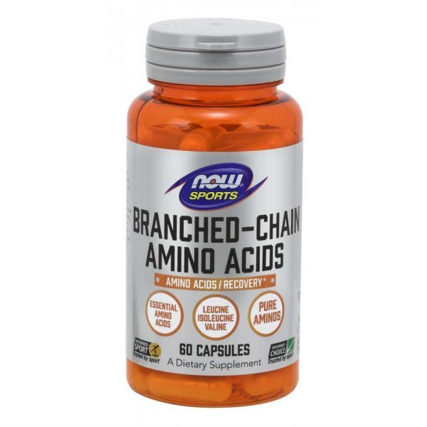 NOW Branched Chain Amino Acids 800 мг 60 капсулиNOW0020