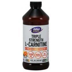 NOW L-carnitine течен 3000 мг 473 мл