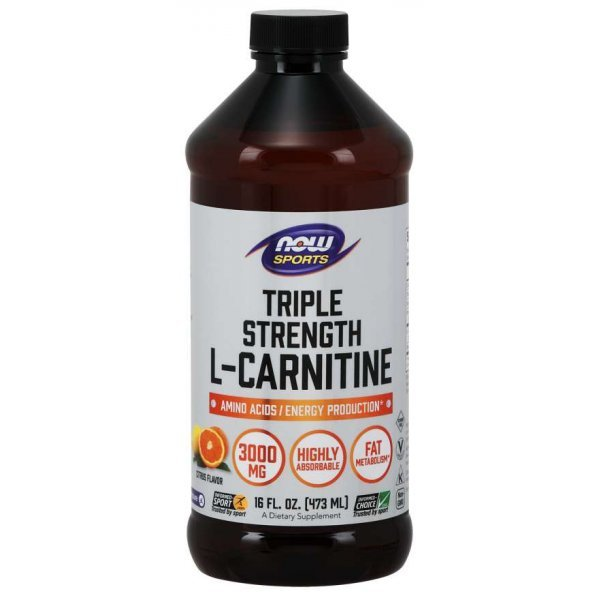 NOW L-carnitine течен 3000 мг 473 млNOW64