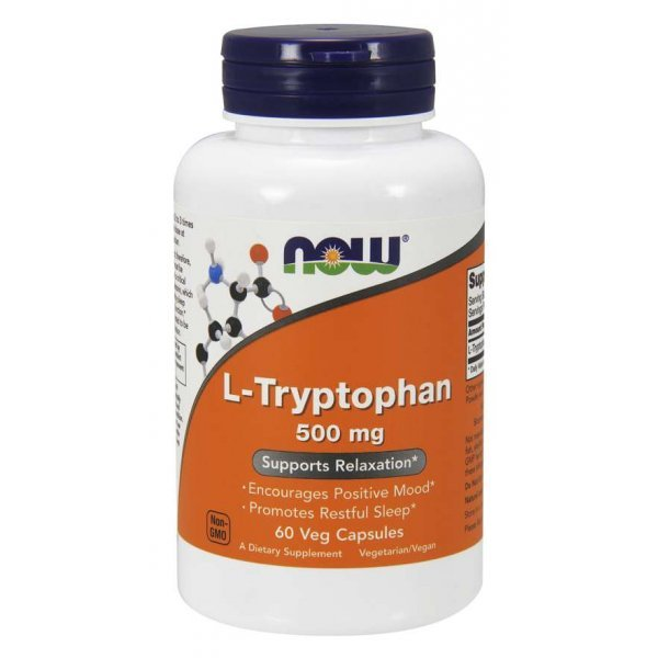 NOW L-Tryptophan 60 капсулиNOW166