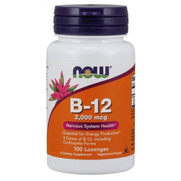 NOW Витамин B-12 2000 mcg 100 дражетаNOW459