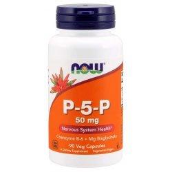 NOW P-5-P Vegetarian (Витамин B-6) 50 мг 90 капсули