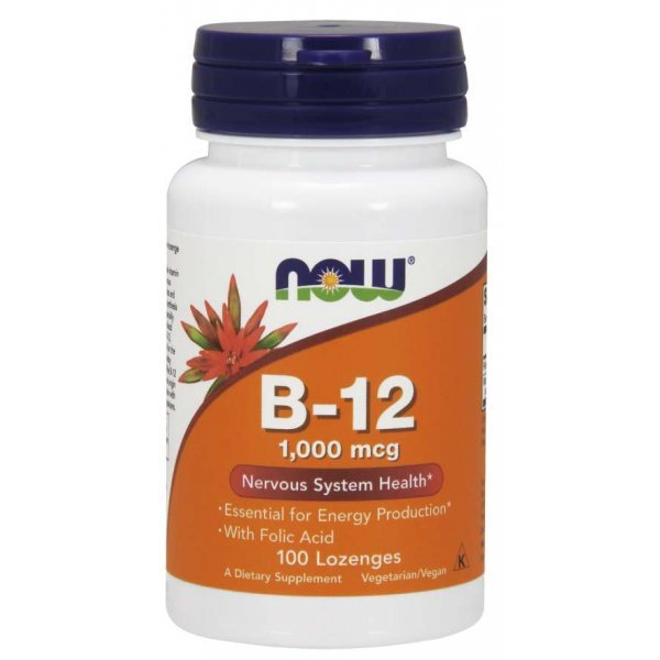 NOW Vitamin B-12 1000 мкг 100 дражетаNOW0037