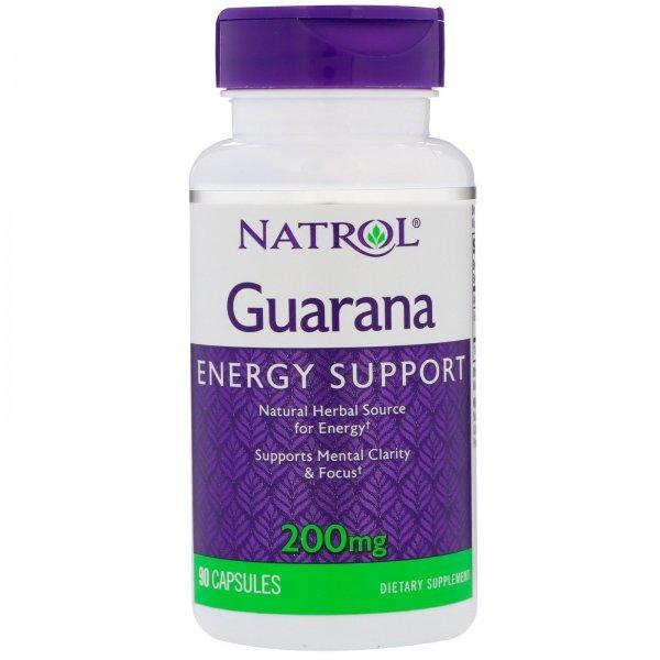 Natrol Guarana 200 мг 90 капсули NAT399