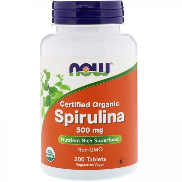 NOW Spirulina 200 таблетки NOW2698