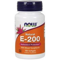 NOW Витамин E-200IU 100 дражета