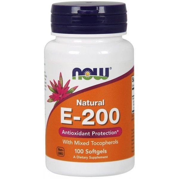 NOW Витамин E-200IU 100 дражетаNOW880