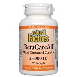 Natural Factors BetaCareAll® 25000 IU 90 дражета