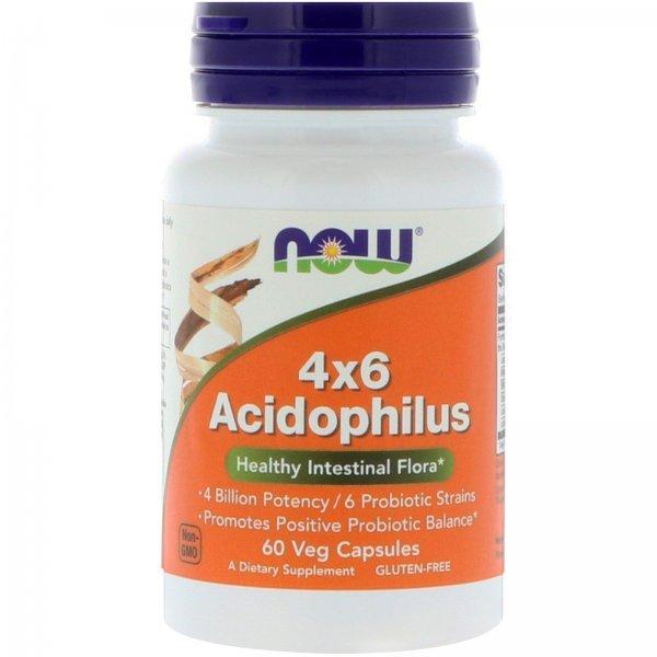 NOW Acidophilus 4X6 60 капсулиNOW2920