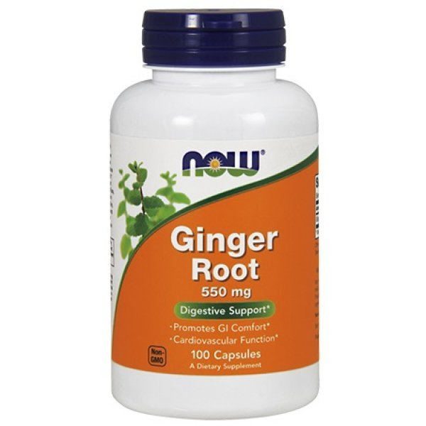 NOW Ginger Root 550 мг 100 капсулиNOW Ginger Root