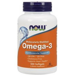NOW Omega-3 1000 мг 500 дражета