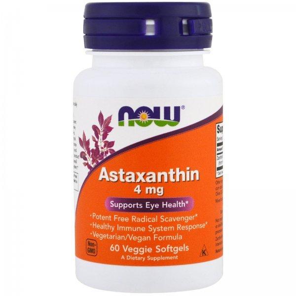 NOW Astaxanthin 60 дражетаNOW3251
