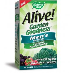 Nature's Way ALIVE! Garden Goodness™ Men's Multi-Vitamin 950 мг 60 таблетки