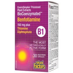 Natural Factors BioCoenzymated ™ Benfotiamine B1 150 мг 30 капсули