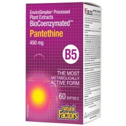 Natural Factors BioCoenzymated ™ Pantethine B5 450 мг 60 капсули