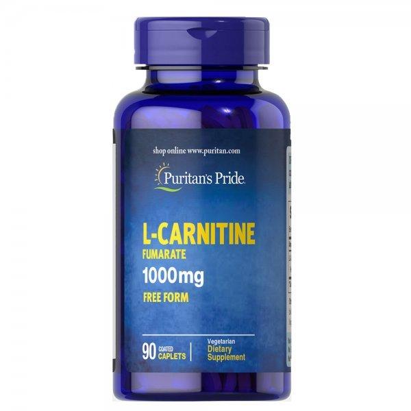 Puritan's Pride L-Carnitine Fumarate 1000 мг 90 таблеткиPP1129