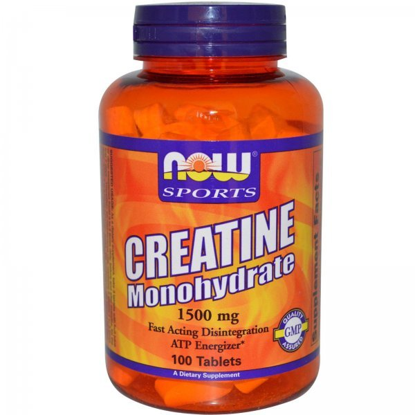 NOW Creatine Monohydrate 100 таблеткиCreatine Monohydrate 100 капсули