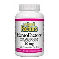 Natural Factors HemoFactors® 20 мг 60 дъвчащи таблетки