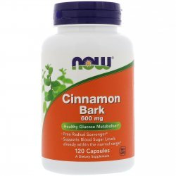 NOW Cinnamon Bark 600 мг 120 капсули