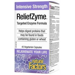 Natural Factors ReliefZyme™ Enzyme Formula 295 мг 45 капсули