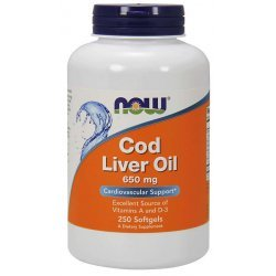 NOW Cod Liver Oil 650 мг 250 дражета