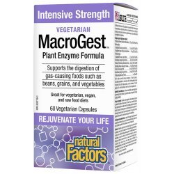 Natural Factors MacroGest™ Plant Enzyme Formula 280 мг 60 капсули