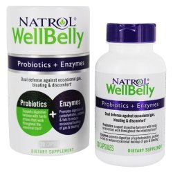 Natrol Well Belly Probiotics + Enzymes 30 капсули