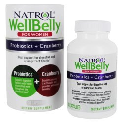 Natrol Well Belly Probiotics + Cranberry For Women 30 капсули