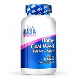 HAYA LABS Horny Goat Weed Extract 750 мг + MACA 50 мг 90 таблетки
