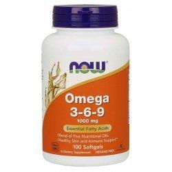 NOW Omega 3-6-9 100 дражета