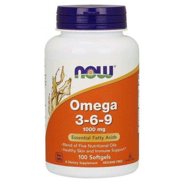 NOW Omega 3-6-9 100 дражетаNOW1835