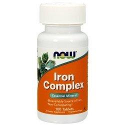 NOW Iron Complex 100 таблетки