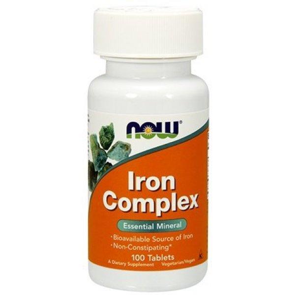 NOW Iron Complex 100 таблеткиNOW1440