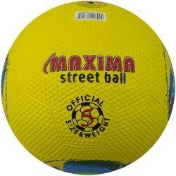 Футболна топка за твърди терени гумена MAXIMA, Жълт