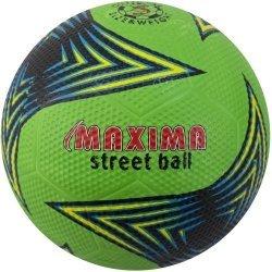 Футболна топка за твърди терени гумена MAXIMA, зелен