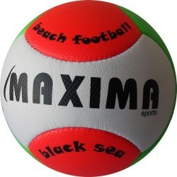 Топка за плажен футбол MAXIMA, Бял/Зелен/Червен