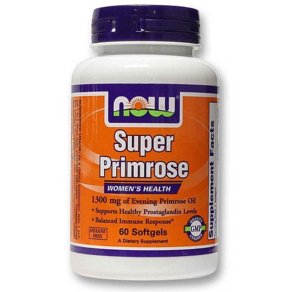 NOW Super Primrose Oil 60 дражетаNOW1755