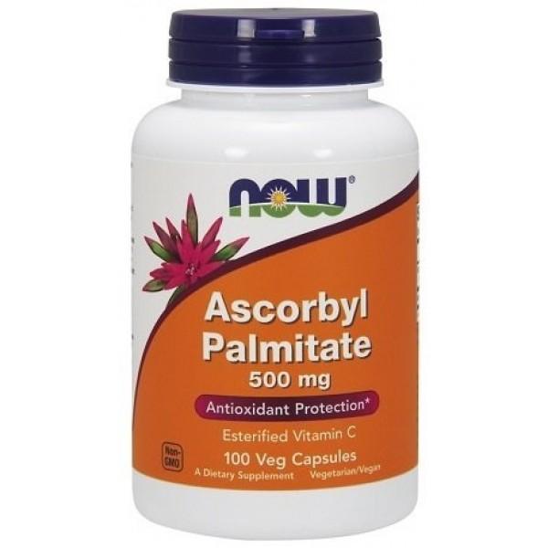 NOW Ascorbyl Palmitate 500 мг 100 капсулиNOW Ascorbyl Palmitate 100 капсули