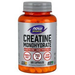 NOW Creatine Monohydrate 750 мг 120 капсули