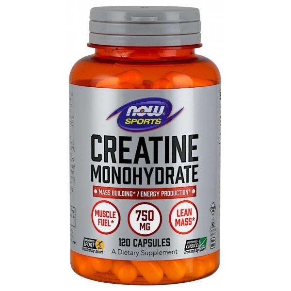 NOW Creatine Monohydrate 750 мг 120 капсули NOW2035