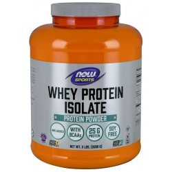 NOW Whey Protein Isolate 2268 гр Неовкусен