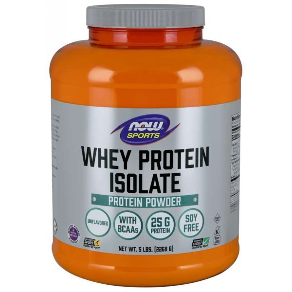 NOW Whey Protein Isolate 2268 гр НеовкусенWhey Protein Isolate 2270гр неовкусен