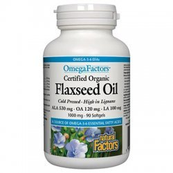 Natural Factors Flaxseed Oil 1000 мг 90 дражета