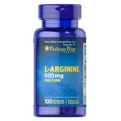 Puritan's Pride L-Arginine 500 мг 100 капсули