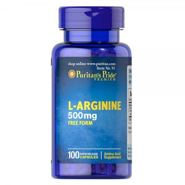 Puritan's Pride L-Arginine 500 мг 100 капсулиPP1128