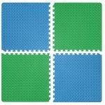 Настилка релефна ЕVA 63х63х1.3 см, 2 бр сини, 2 бр зелени300026111